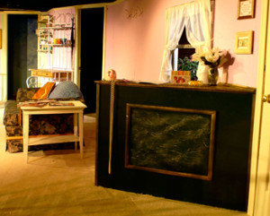 """Faux Marble Counter, """"Steel Magnolias,""""  Anchorage Community Theater"""
